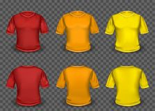 Red orange and yellow t-shirt template Royalty Free Stock Photo