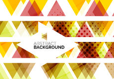 Red, orange, yellow triangles Royalty Free Stock Images