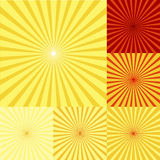 Red, orange and yellow twirls Royalty Free Stock Images