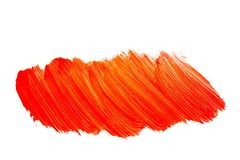 Red orange yellow watercolor brushstroke pattern isolated on white background royalty free stock photos