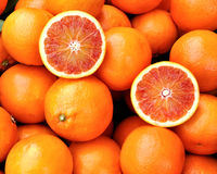 Red oranges of Sicily, Italy Stock Photos