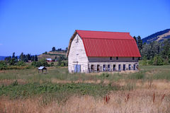 Red Oregon Barn Stock Image