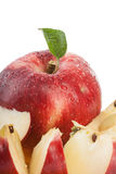 Red organic apple Stock Photo