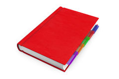 Red Organizer Notebook Stock Image