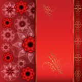 Red oriental background Stock Image