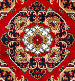 Red Oriental Carpet Texture Background Royalty Free Stock Photo