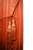 Red oriental curtain Stock Images