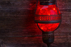 Red oriental lamp Royalty Free Stock Photos
