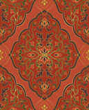 Red oriental ornament. Royalty Free Stock Image