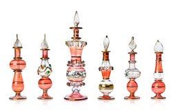 Red oriental perfume bottles Stock Photo