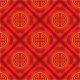 Red Oriental Seamless Tile. Red Oriental Chinese Seamless Tile - Grunge is Removable in Vector Format stock illustration