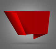 Red origami abstract speech bubble Stock Image