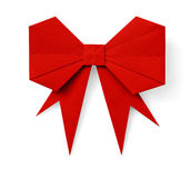 Red origami bow Stock Image