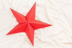Red Origami Christmas Star Stock Photos