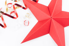 Red Origami Christmas Star Royalty Free Stock Image