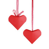 Red origami hearts Royalty Free Stock Photos