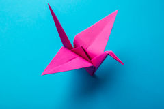 Red origami paper Royalty Free Stock Image