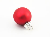 Red Ornament. Red Christmas ornament on white background Stock Images
