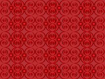 Red ornament. Red background with an ornament Royalty Free Stock Image