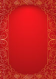 Red ornament background Stock Photography