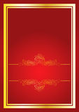 Red ornament background Royalty Free Stock Image