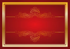 Red ornament background stock illustration