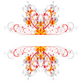 Red ornament borders. Fire red and yellow borders flower ornament Royalty Free Stock Photography