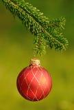 Red ornament christmas ball Stock Photos