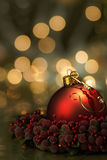 Red Ornament Holiday Background Royalty Free Stock Images