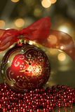 Red Ornament Holiday Background Royalty Free Stock Photography