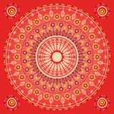 Red ornament. Original circle-ornament in red tones vector illustration
