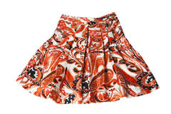 Red ornament skirt Stock Photos