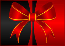 Red ornamental bow background Royalty Free Stock Photography