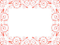 Red ornamental frame Royalty Free Stock Photography