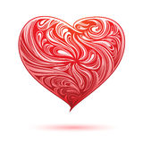 Red Ornamental Heart Stock Photos
