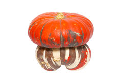 Red ornamental pumpkin Royalty Free Stock Photo