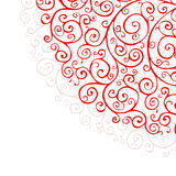 Red ornaments. Ornate background with red ornaments vector Stock Photography