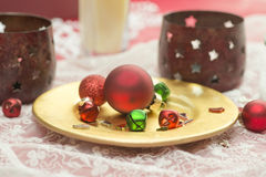 Red Ornaments Royalty Free Stock Photography