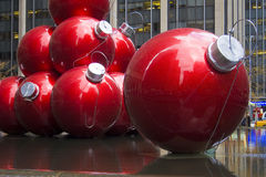 Red Ornaments in the city Royalty Free Stock Photo