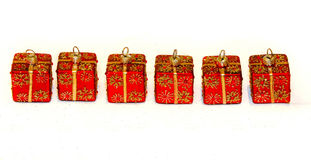 Red ornaments decor Royalty Free Stock Images