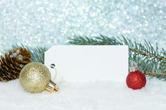 Red Ornaments With Tag Royalty Free Stock Photos