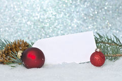 Red Ornaments With Tag Stock Images