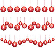 Red ornaments tinsels. Stock Photo