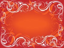 Red ornate background Royalty Free Stock Photos