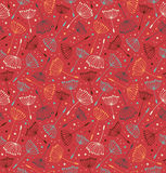 Red ornate endless pattern. Seamless decorative te Stock Photos