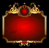 Red ornate frame Royalty Free Stock Photo