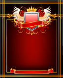 Red ornate frame. Royalty Free Stock Photo