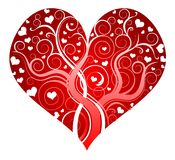 Red ornate heart Stock Image