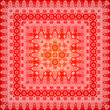 Red ornate shawl  pattern Royalty Free Stock Photography