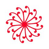 Red symmetric flower. Red ornate symmetric flower Royalty Free Stock Photo